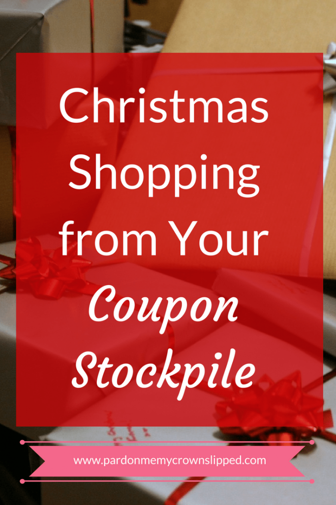 christmas shopping from your coupon stockpile
