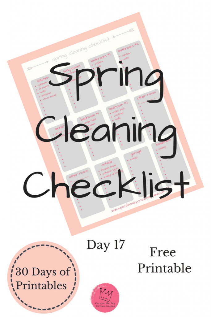 Get the windows open and get going with this spring cleaning checklist. #springcleaning #printable