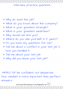 Teen Jobs Hiring Near Me >> Job Interview Practice Questions Pardon Me My Crown Slipped