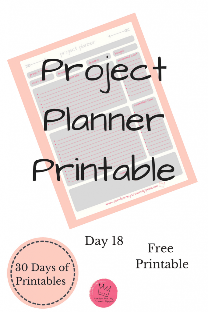 Plan your next project with this handy project planner. Next steps, materials to buy, estimated timeline and more.