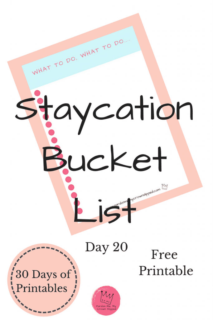 Take it to the next step with today's staycation bucket list and make a list of the places you really want to go or things you really want to do.