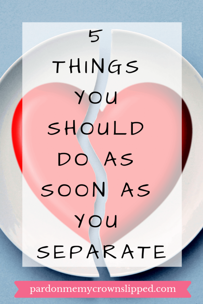 Being newly separated and possibly heading for divorce is a scary time. Use these tips to gain some control over the overwhelm. #divorce #separation #marriageproblems