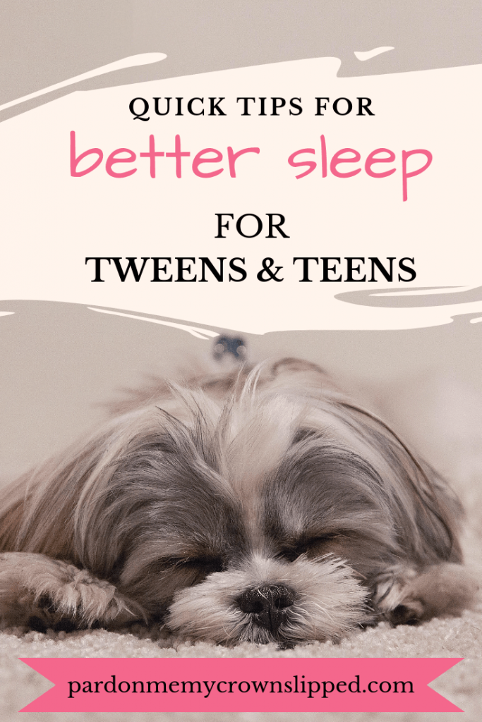 From problems at school to attitudes at home, tweens and teens are tired. Use these ideas and techniques to make sure your tween is getting enough sleep. #parenting #sleep #teen #tween