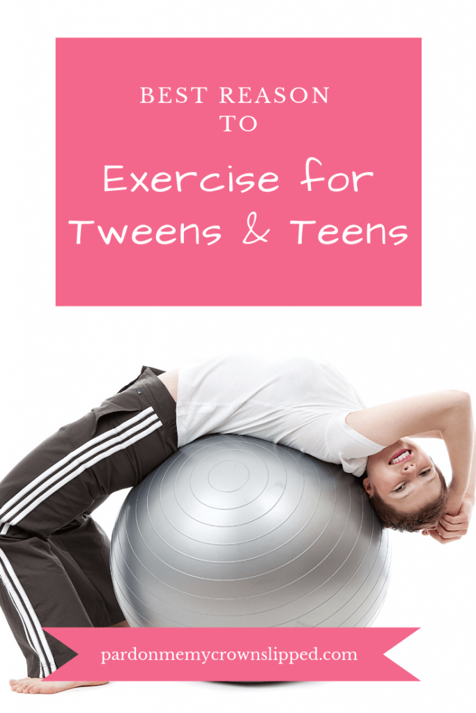 Make exercise for tweens and teens an important part of their mental health routine. Self-care is an important key to curbing those attitudes. #tween #teen #teenhealth